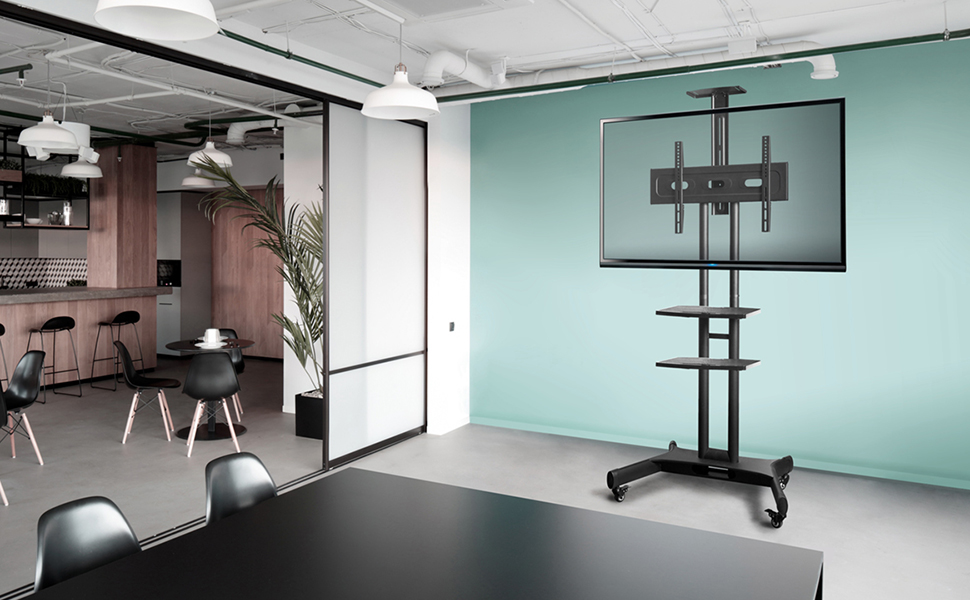 mobile tv stand ts1551 in office