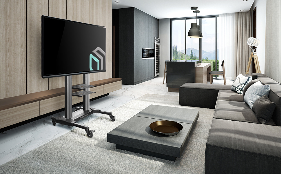 mobile tv stand ts1881 in office
