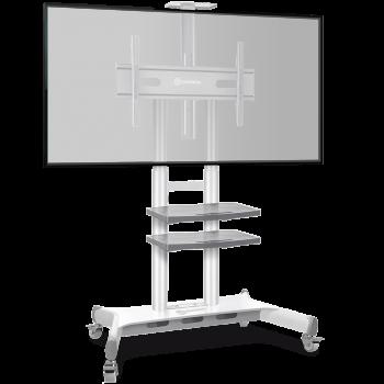 """ONKRON стойка для телевизора с кронштейном 50""""-86"""", мобильная, белая TS1881"""