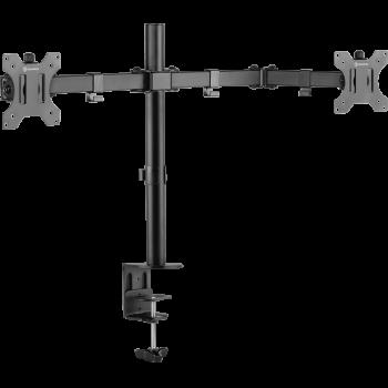 """ONKRON кронштейн для двух мониторов 10""""-32"""" настольный, чёрный D221E NEW"""
