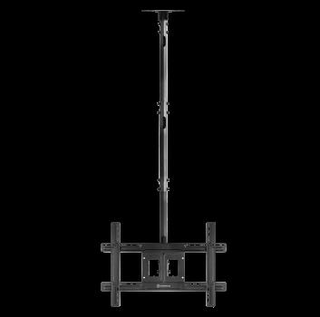 """ONKRON потолочный кронштейн для телевизора 32""""-80"""" потолочный телескопический, чёрный N2L"""