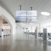 Комплект потолочный Tilt Up для видео стен на 2 экрана ONKRON CPRO3L-12, чёрный - вид 2 миниатюра