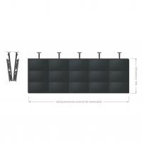 Комплект потолочный Tilt Up для видео стен на 2 экрана ONKRON CPRO3L-12, чёрный - вид 3 миниатюра