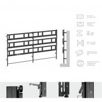 Комплект напольно-стеновой Tilt Up для видео стен на 12 экранов ONKRON APRO3L-34, чёрный - вид 1 миниатюра