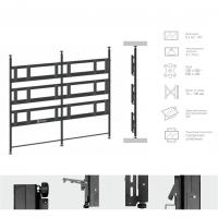 Комплект распорный Tilt Up для видео стен на 9 экранов ONKRON SPRO3L-33, чёрный - вид 1 миниатюра