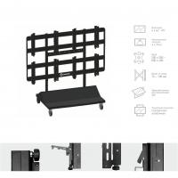 Комплект напольный Tilt Up для видео стен на 6 экранов ONKRON FSPRO3L-22, чёрный - вид 1 миниатюра