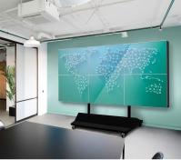 Комплект напольный Tilt Up для видео стен на 6 экранов ONKRON FSPRO3L-22, чёрный - вид 2 миниатюра
