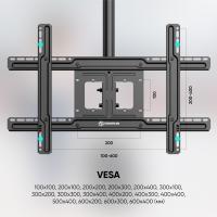 """ONKRON потолочный кронштейн для телевизора 32""""-70"""" потолочный телескопический, чёрный N1L - вид 6 миниатюра"""