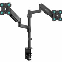 """ONKRON кронштейн (держатель) для двух мониторов 13""""-32"""" дюймов настольный, черный G140 - вид 1 миниатюра"""