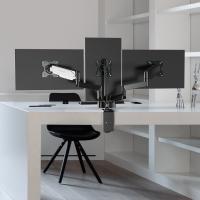 """ONKRON кронштейн (держатель) для трех мониторов 13""""-32"""" дюймов настольный, черный G280 - вид 1 миниатюра"""