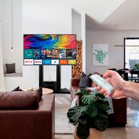 """ONKRON стойка для телевизора с кронштейном 55""""-100"""", мобильная, чёрная TS2210 - вид 1 миниатюра"""