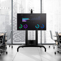 """ONKRON стойка для телевизора с кронштейном 55""""-100"""", мобильная, чёрная TS2210 - вид 8 миниатюра"""