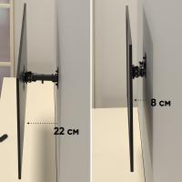 """ONKRON кронштейн для телевизора 10""""-27"""" наклонно-поворотный, чёрный R2 - вид 3 миниатюра"""