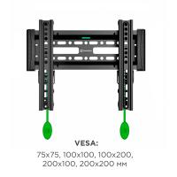 """ONKRON кронштейн для телевизора 17""""-37"""" наклонный, чёрный SN12 - вид 10 миниатюра"""