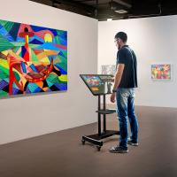 """ONKRON стойка для телевизора с кронштейном 32""""-65"""", мобильная, чёрная TS1330 - вид 1 миниатюра"""
