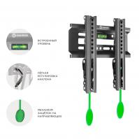 """ONKRON кронштейн для телевизора 17""""-43"""" наклонный, чёрный SN22 - вид 8 миниатюра"""