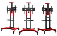 """ONKRON стойка для телевизора с кронштейном 40""""-70"""", мобильная, красная TS1551 - вид 3 миниатюра"""