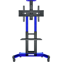 "ONKRON стойка для телевизора с кронштейном 40""-70"", мобильная, синяя TS1551 - вид 1 миниатюра"