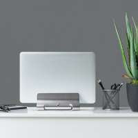 """ONKRON Подставка (держатель) для ноутбука 10""""-15,8"""", серебристая DN-02 - вид 7 миниатюра"""