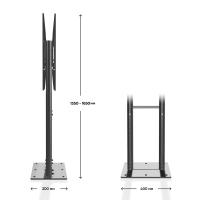 """ONKRON стационарная стойка для двух экранов 40""""-70"""", черный FPRO2L-20 - вид 3 миниатюра"""