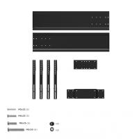 """ONKRON стойка для двух телевизоров с кронштейном 40""""-65"""", мобильная, чёрная TS1881DV - вид 10 миниатюра"""