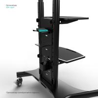 """ONKRON стойка для двух телевизоров с кронштейном 40""""-65"""", мобильная, чёрная TS1881DV - вид 8 миниатюра"""