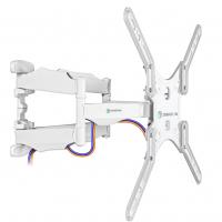 """ONKRON кронштейн для телевизора 32""""-60"""" наклонно-поворотный, белый M5 - вид 1 миниатюра"""