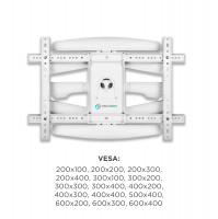 """ONKRON кронштейн для телевизора 40""""-70"""" наклонно-поворотный, белый M6L - вид 4 миниатюра"""