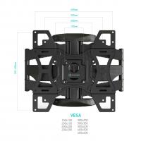 """ONKRON кронштейн для телевизора 32""""-60"""" наклонно-поворотный, чёрный M15 - вид 1 миниатюра"""