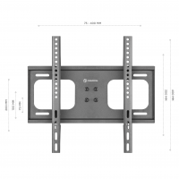 "ONKRON подставка для телевизора 26""-55"" настольная, чёрная PT1 - вид 4 миниатюра"