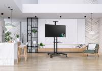 """ONKRON стойка для телевизора с кронштейном 32""""-65"""", мобильная, чёрная TS1551 - вид 10 миниатюра"""