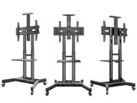 """ONKRON стойка для телевизора с кронштейном 32""""-65"""", мобильная, чёрная TS1551 - вид 2 миниатюра"""