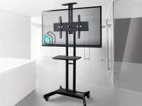 """ONKRON стойка для телевизора с кронштейном 32""""-65"""", мобильная, чёрная TS1551 - вид 8 миниатюра"""