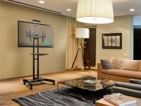 """ONKRON стойка для телевизора с кронштейном 32""""-65"""", мобильная, чёрная TS1551 - вид 9 миниатюра"""