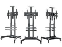 """ONKRON стойка для телевизора с кронштейном 32""""-65"""", мобильная, чёрная TS1552 - вид 2 миниатюра"""