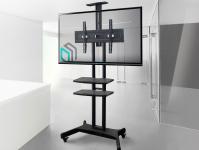 """ONKRON стойка для телевизора с кронштейном 32""""-65"""", мобильная, чёрная TS1552 - вид 8 миниатюра"""