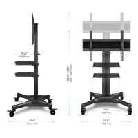 """ONKRON стойка для телевизора с кронштейном 32""""-55"""", мобильная, чёрная TS2551 - вид 4 миниатюра"""