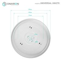 ONKRON тарелка для СВЧ универсальная ER270 27 см - вид 2 миниатюра