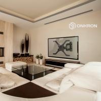"""ONKRON кронштейн для телевизора 32""""-70"""" наклонно-поворотный, чёрный M4L - вид 10 миниатюра"""