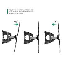 """ONKRON кронштейн для телевизора 32""""-70"""" наклонно-поворотный, чёрный M5L - вид 6 миниатюра"""