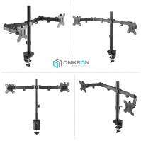 """ONKRON кронштейн для двух мониторов 10""""-32"""" настольный, чёрный D221E NEW - вид 1 миниатюра"""