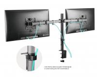 """ONKRON кронштейн для двух мониторов 10""""-32"""" настольный, чёрный D221E NEW - вид 4 миниатюра"""