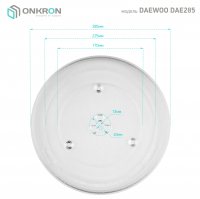 ONKRON тарелка для СВЧ DAEWOO KOR-810S 28,5 см - вид 3 миниатюра
