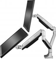 """ONKRON кронштейн для монитора 13""""-32"""" настольный, серебристый G200 - вид 1 миниатюра"""
