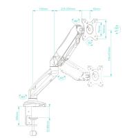 """ONKRON кронштейн (держатель) для монитора 13""""-27"""" дюймов настольный, белый G80 - вид 5 миниатюра"""