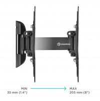 """ONKRON кронштейн для телевизора 22""""-42"""" наклонно-поворотный, чёрный M2S - вид 3 миниатюра"""