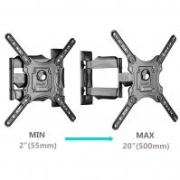 """ONKRON кронштейн для телевизора 32""""-55"""" наклонно-поворотный, чёрный M4 - вид 3 миниатюра"""