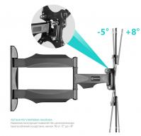"""ONKRON кронштейн для телевизора 32""""-55"""" наклонно-поворотный, чёрный M4 - вид 5 миниатюра"""