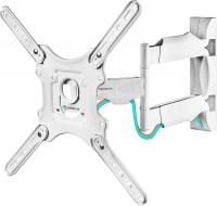 """ONKRON кронштейн для телевизора 32""""-65"""" наклонно-поворотный, белый M4 - вид 1 миниатюра"""