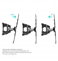 """ONKRON кронштейн для телевизора 37""""-70"""" наклонно-поворотный, чёрный M5 - вид 3 миниатюра"""